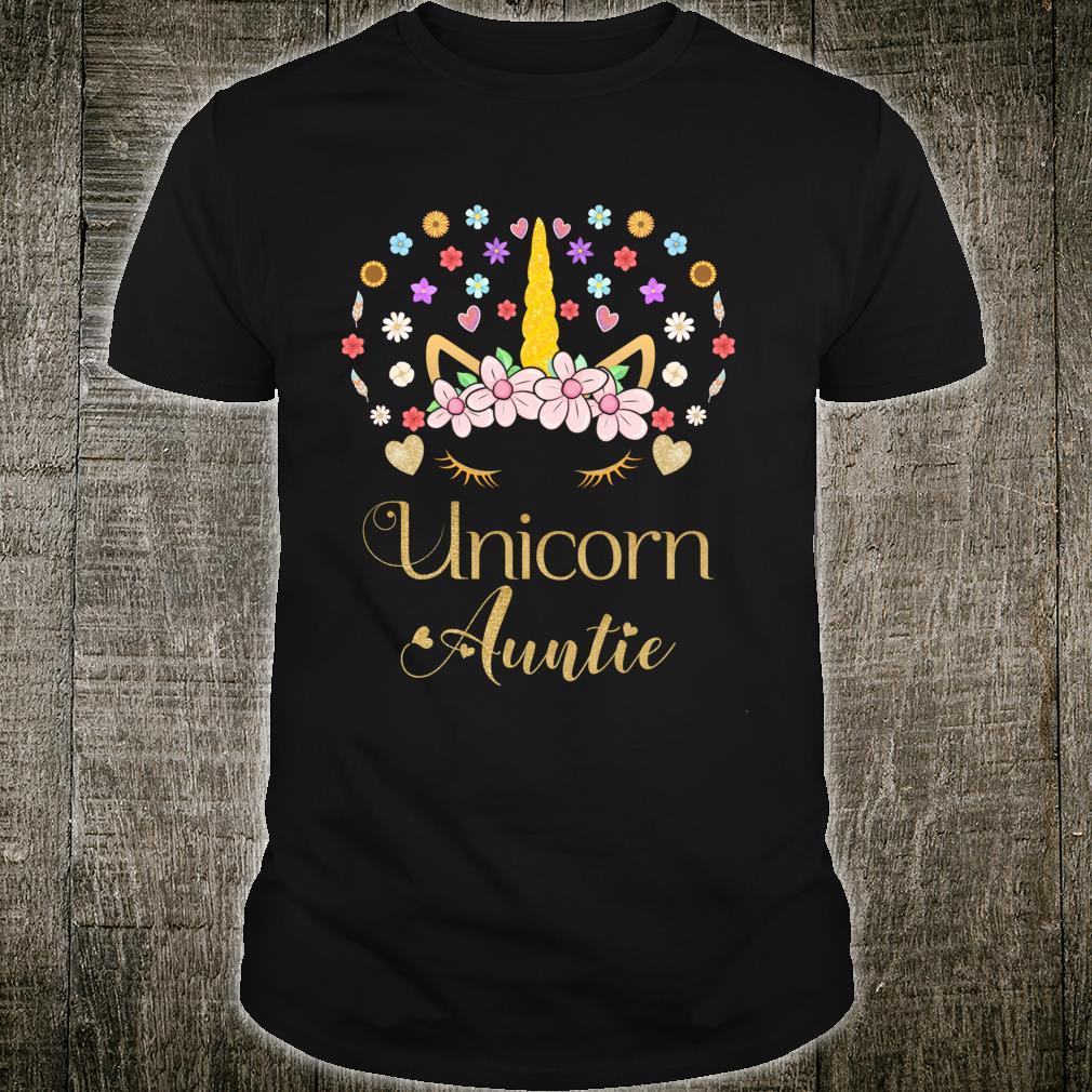 Unicorn Aunt Outfit, Watercolor Flower Bouquet Shirt