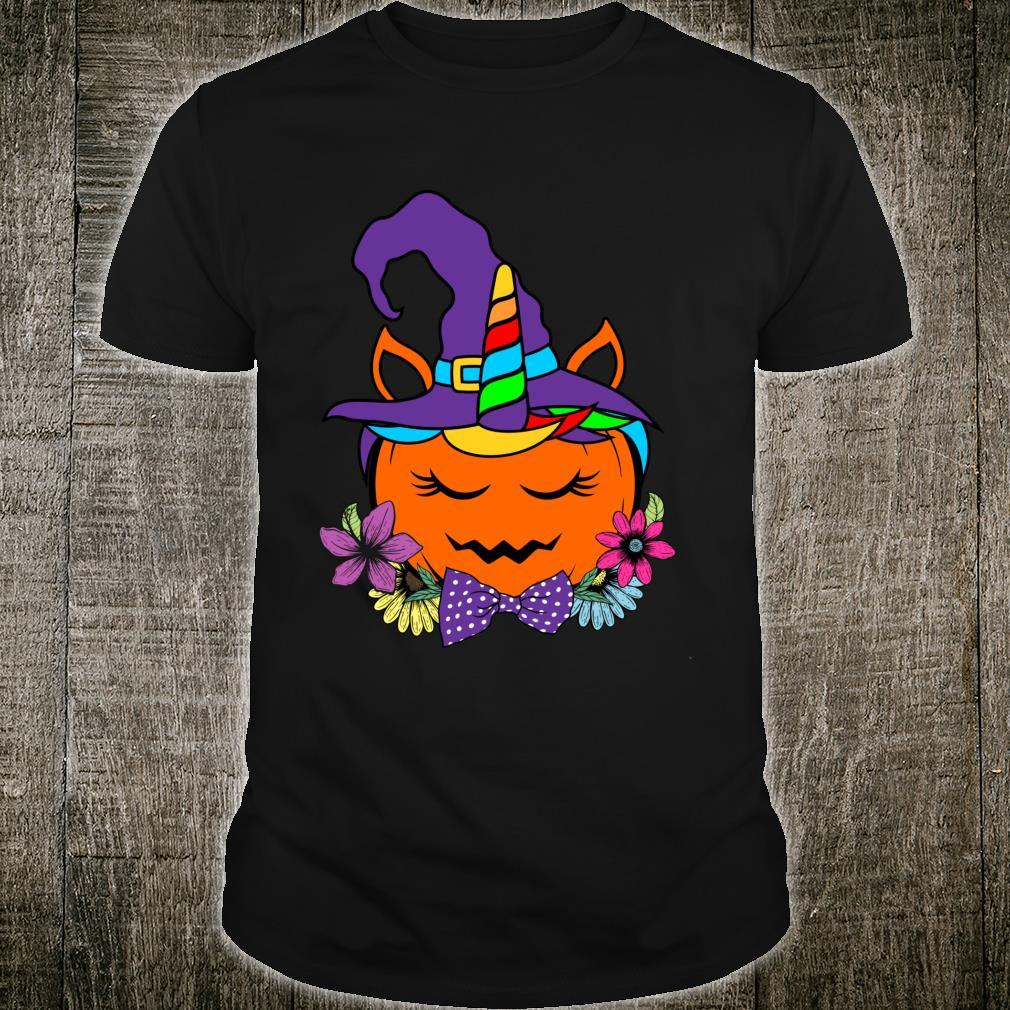 Unicorn Pumpkin Horror Scary halloween Cute Shirt