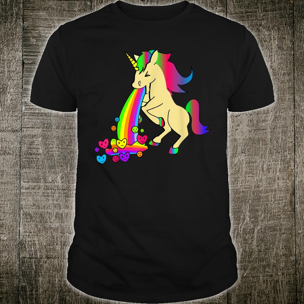 Unicorn Rainbow Harts Humor Shirt