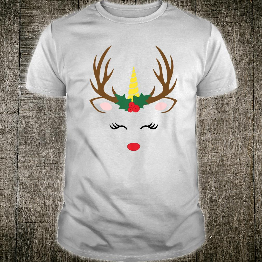 Unicorn Reindeer Gift Girls Christmas Idea Shirt