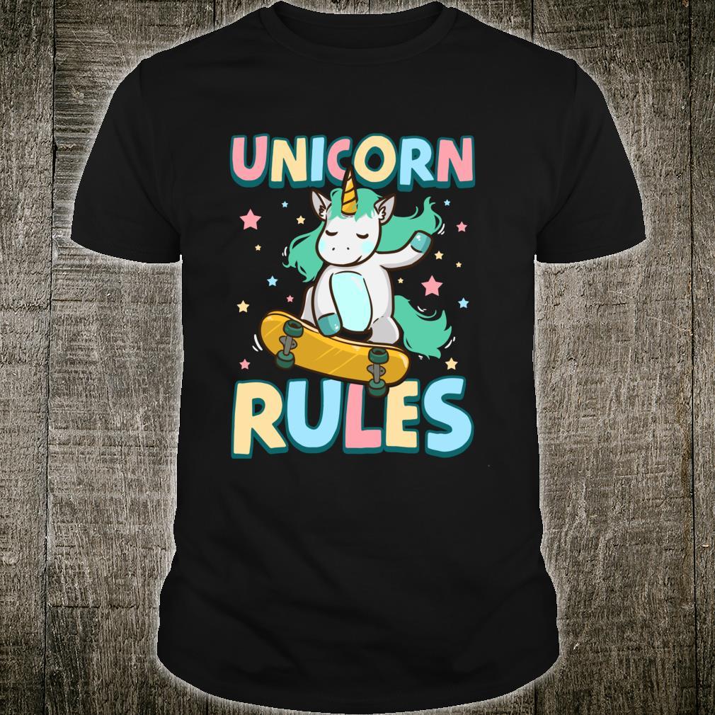 Unicorn Rules Skateboarding Shirt