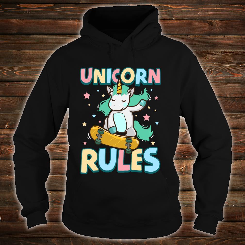 Unicorn Rules Skateboarding Shirt hoodie