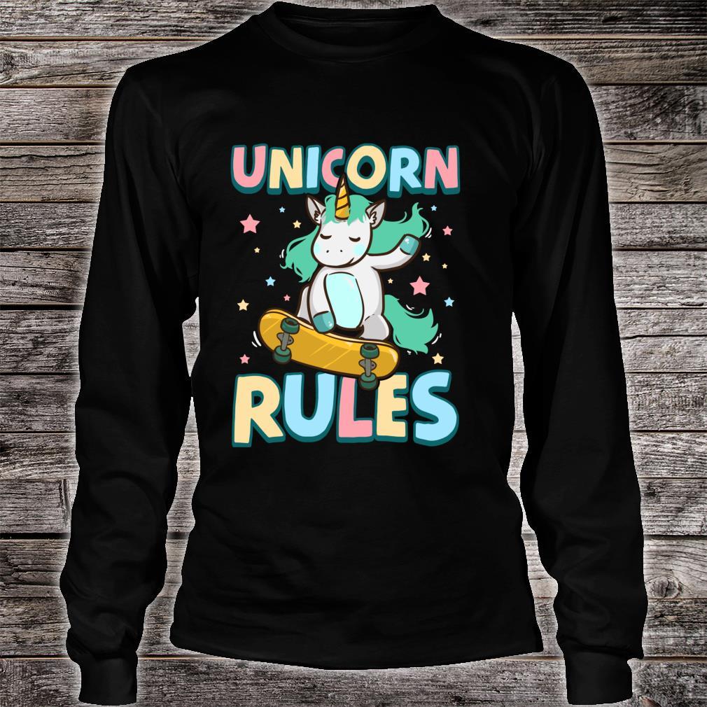 Unicorn Rules Skateboarding Shirt long sleeved