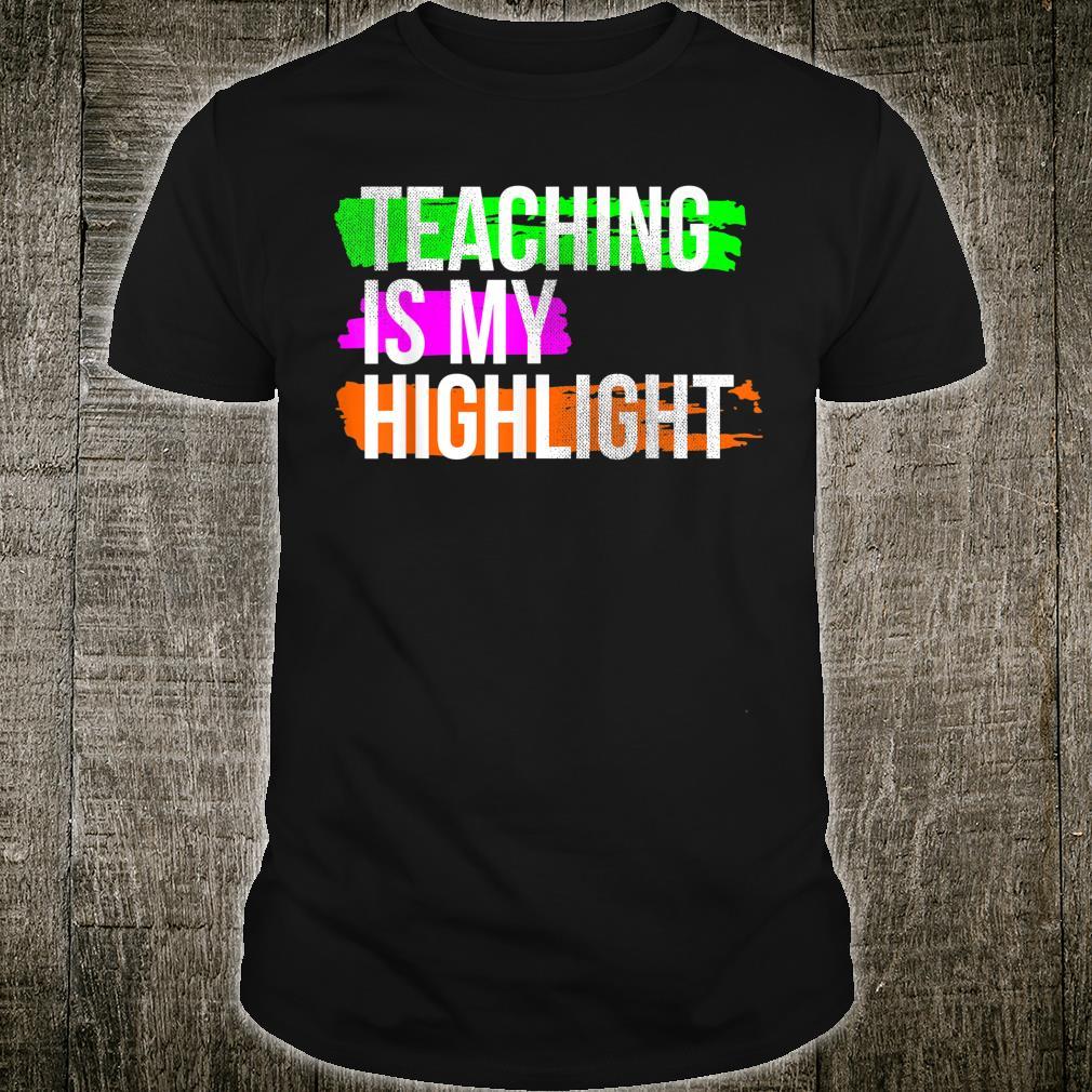 Unterrichten ist mein Höhepunkt Nostalgisches Geschenk Shirt