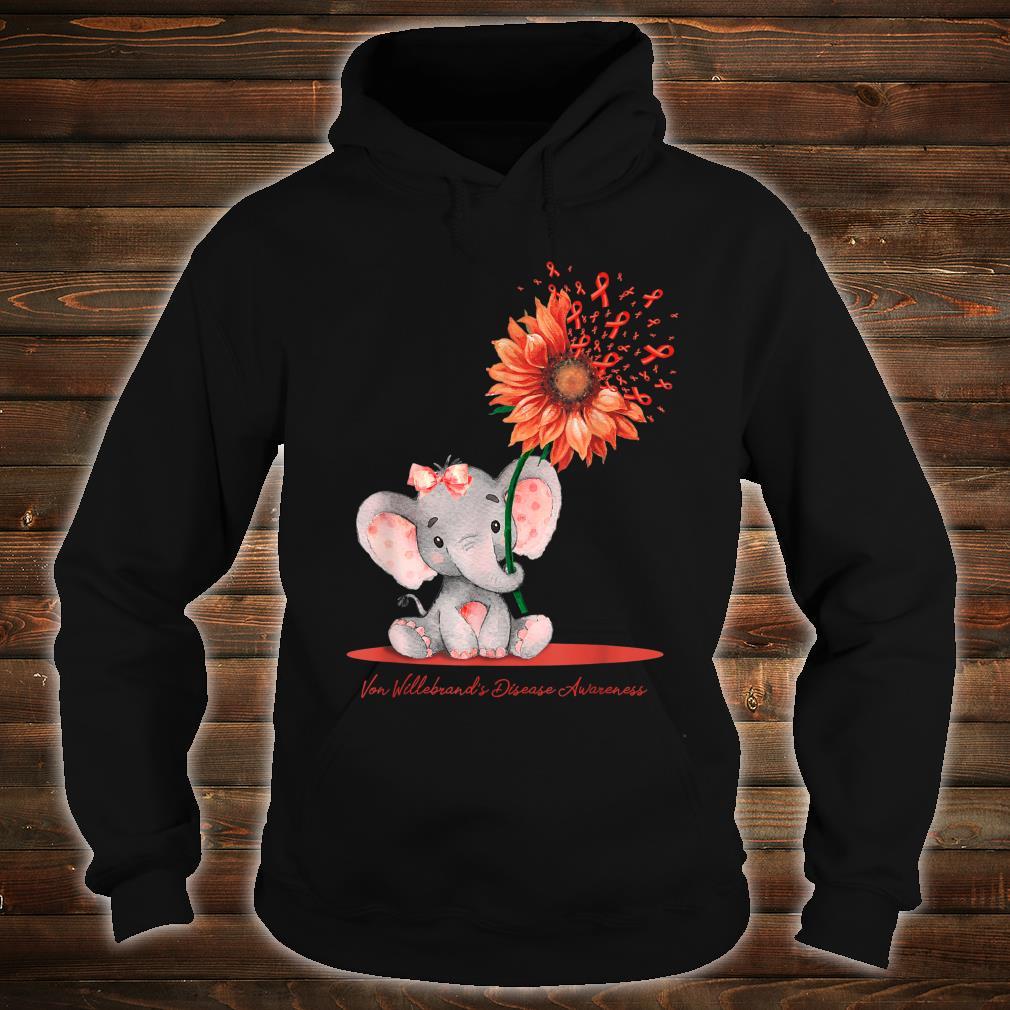 VON WILLEBRAND'S DISEASE AWARENESS Cute Elephant Sunflower Shirt hoodie