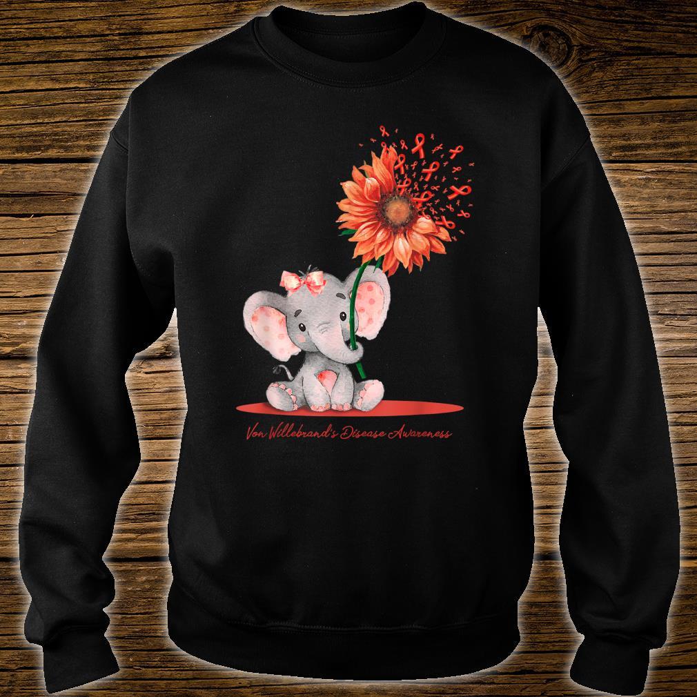 VON WILLEBRAND'S DISEASE AWARENESS Cute Elephant Sunflower Shirt sweater