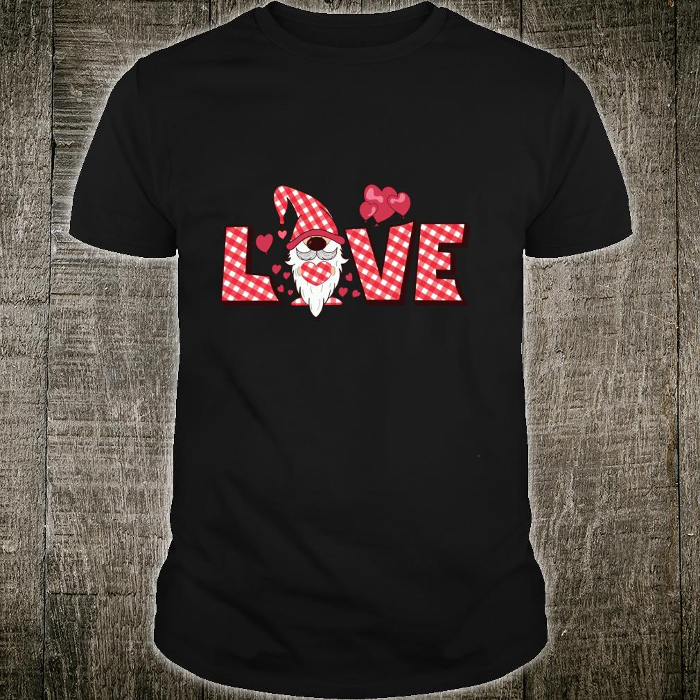 Valentine Gnome Holding Heart Valentine's Day Gnome Love Shirt