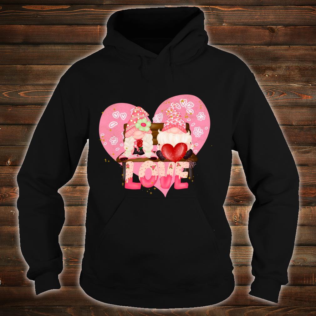 Valentine Gnomes Holding Hearts Valentine's Day Gnome Love Shirt hoodie