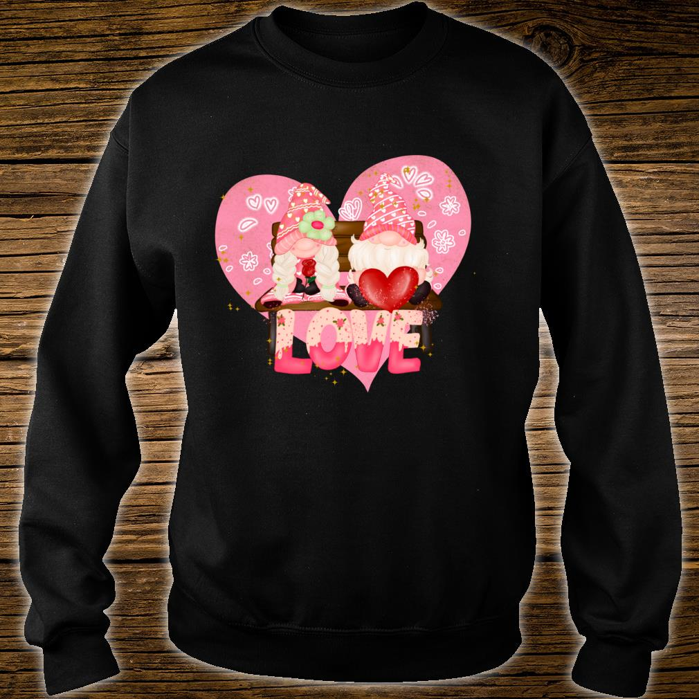 Valentine Gnomes Holding Hearts Valentine's Day Gnome Love Shirt sweater
