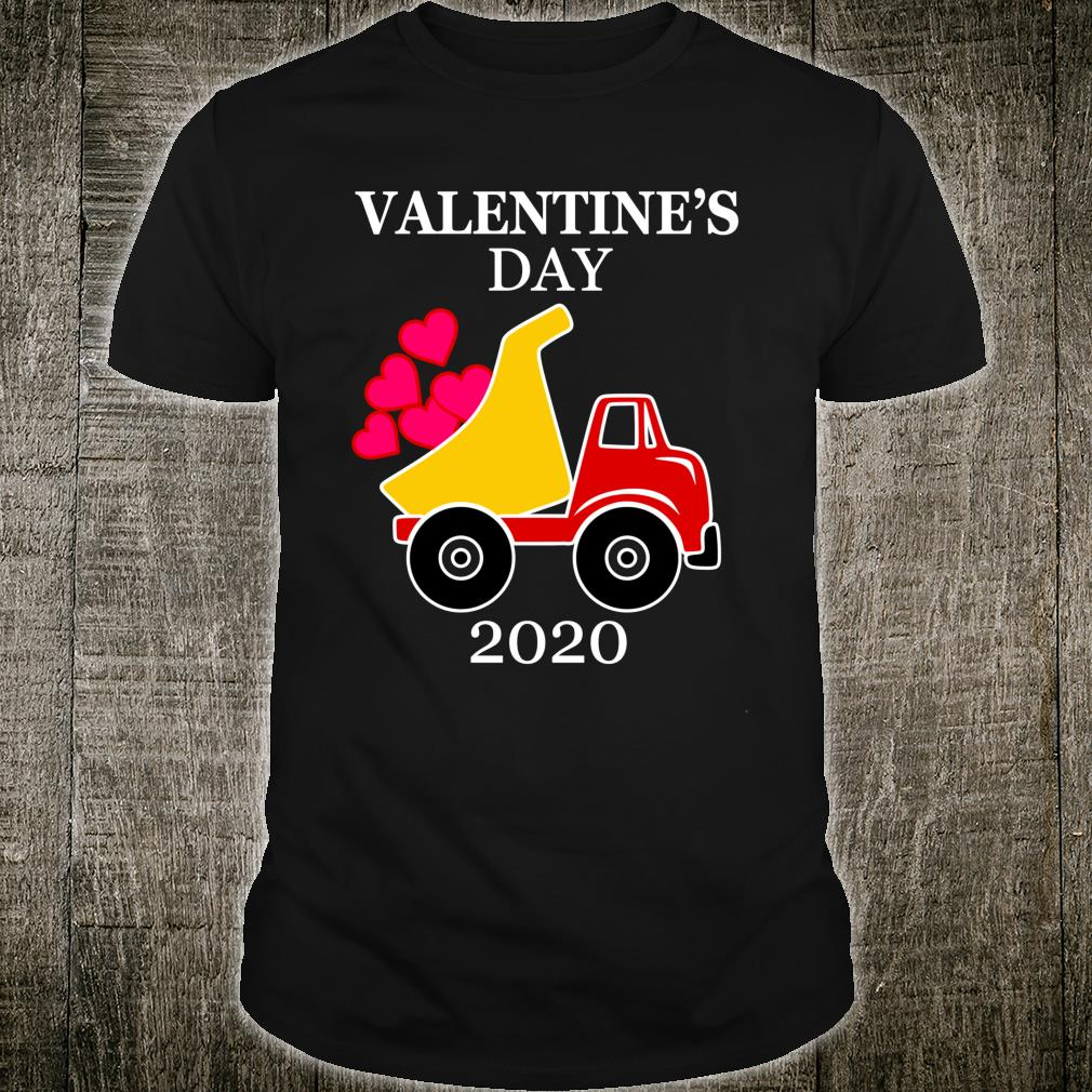 Valentines Day 2020 Construction Dumping Heart Dump Truck Shirt