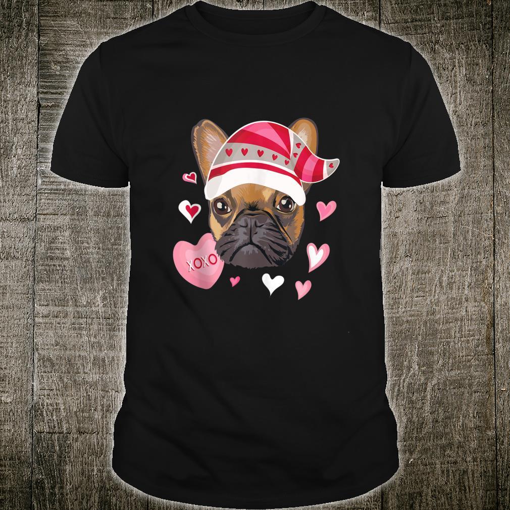 Valentine's Day French Bulldog Gnome Hearts Frenchie Shirt