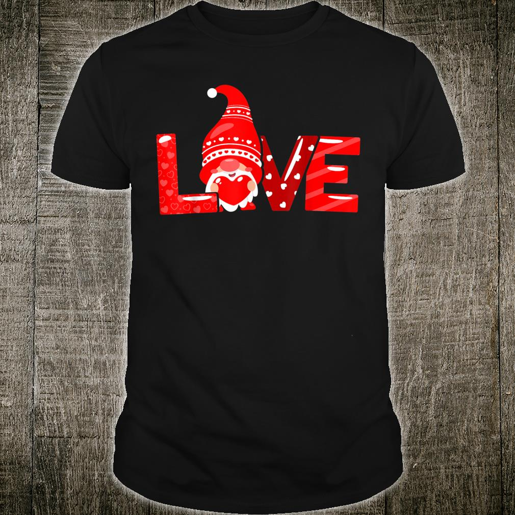 Valentines Day Gnome Love Boys Girls Shirt