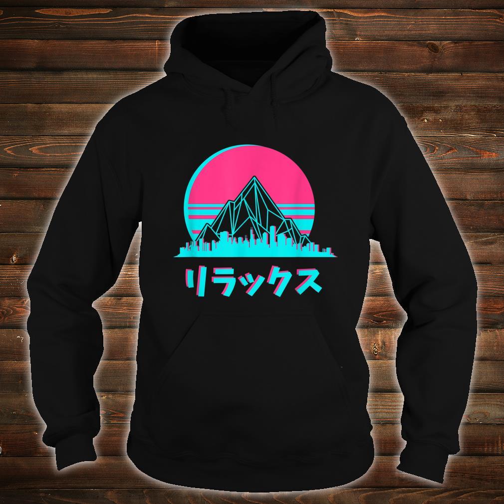 Vaporwave Aesthetic Skyline Sunset Anime Fan Shirt hoodie