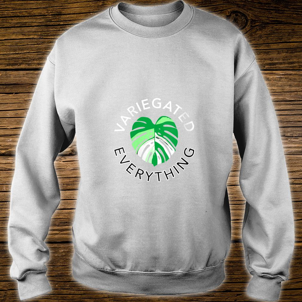Variegated Everything Monstera Albo House Plant Leaf Shirt sweater