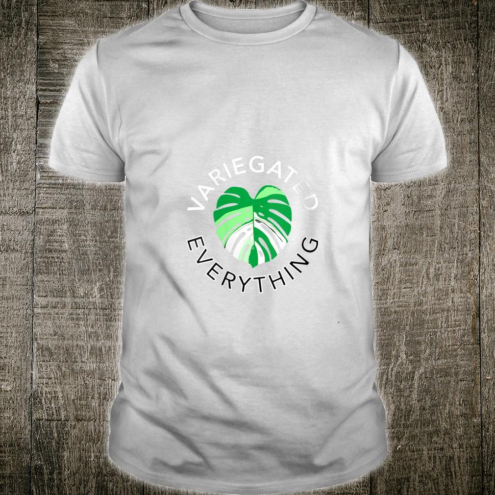 Variegated Everything Monstera Albo House Plant Leaf Shirt
