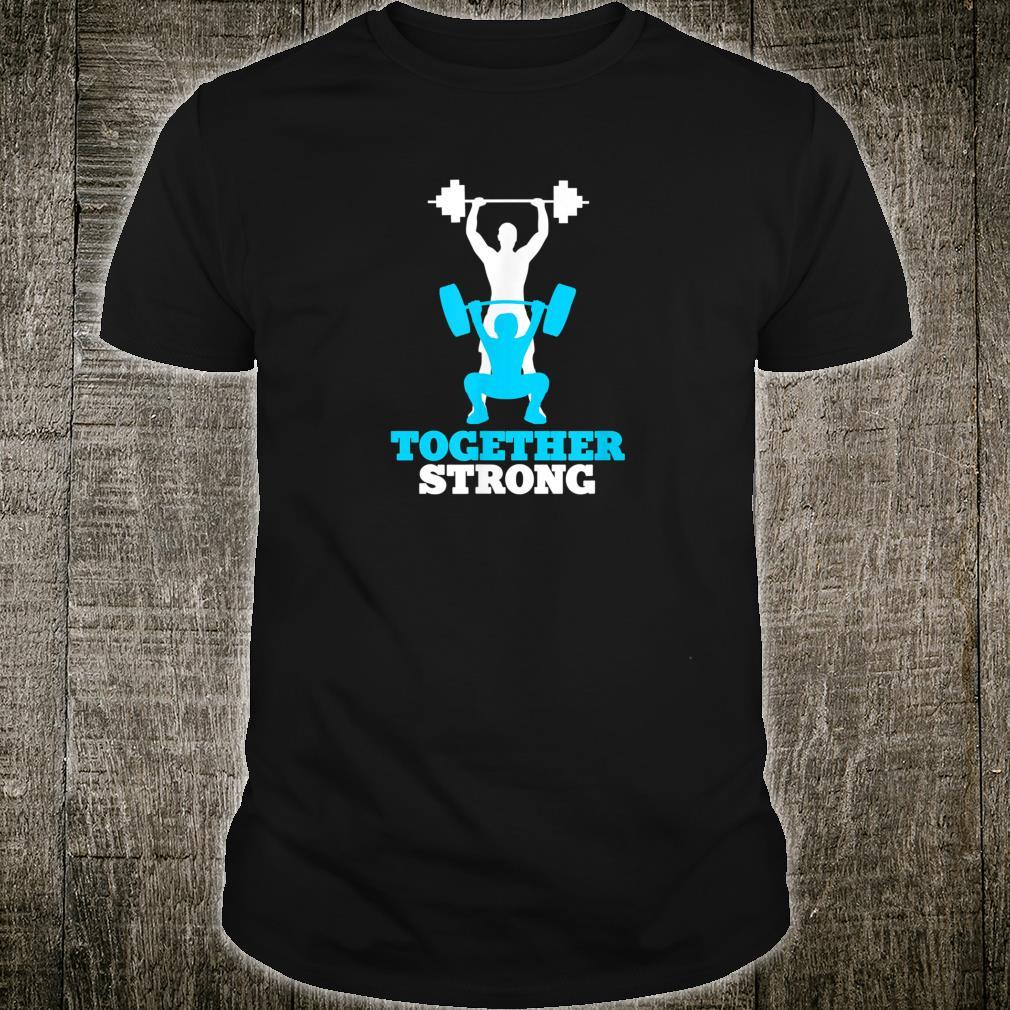 Vater Sohn Sport Fitness Team Vatertag Shirt