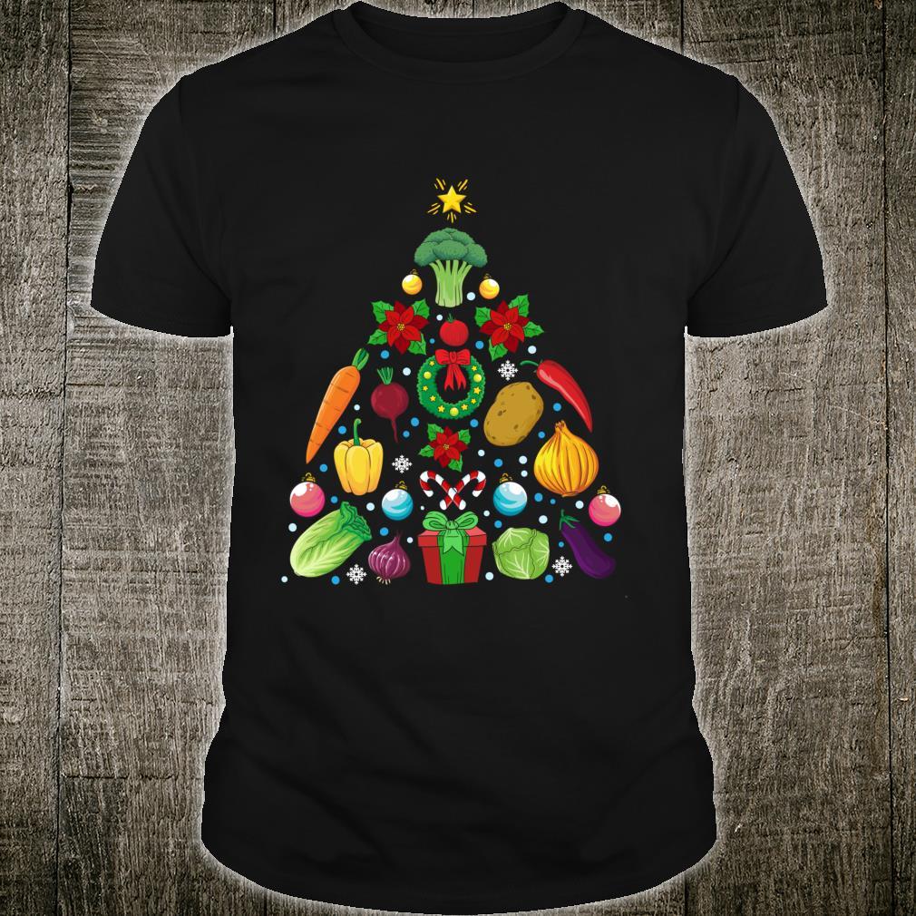 Vegetables Christmas Tree Vegan Shirt