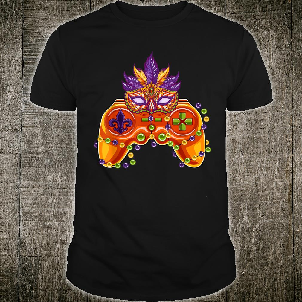 Video Gamer Controllers Mardi Gras Gamer Shirt