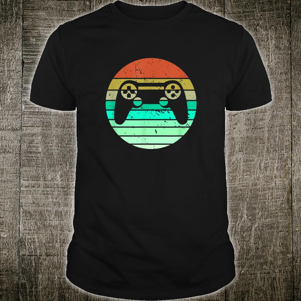 Videospiele Zocken Geschenk Retro Gamer Shirt