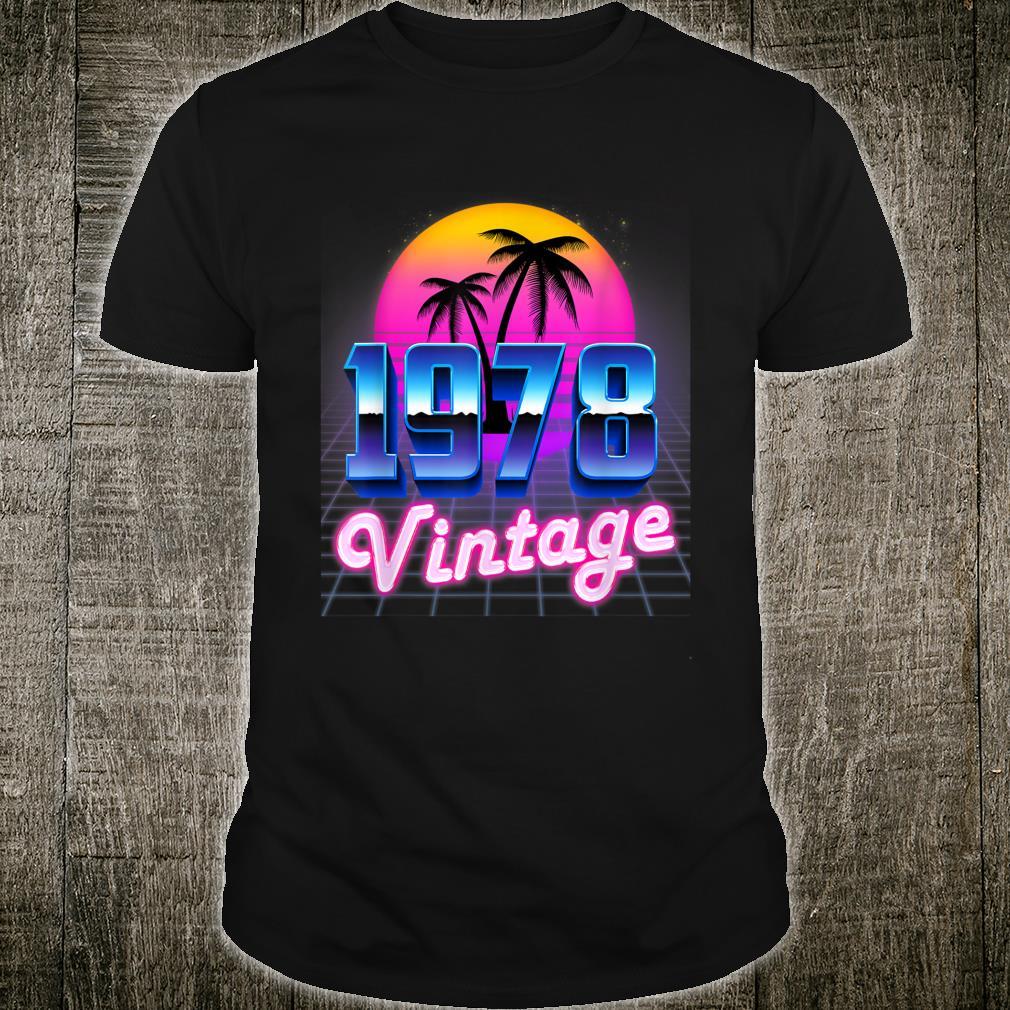 Vintage 1978 Retro 80's Style 42th Birthday Shirt