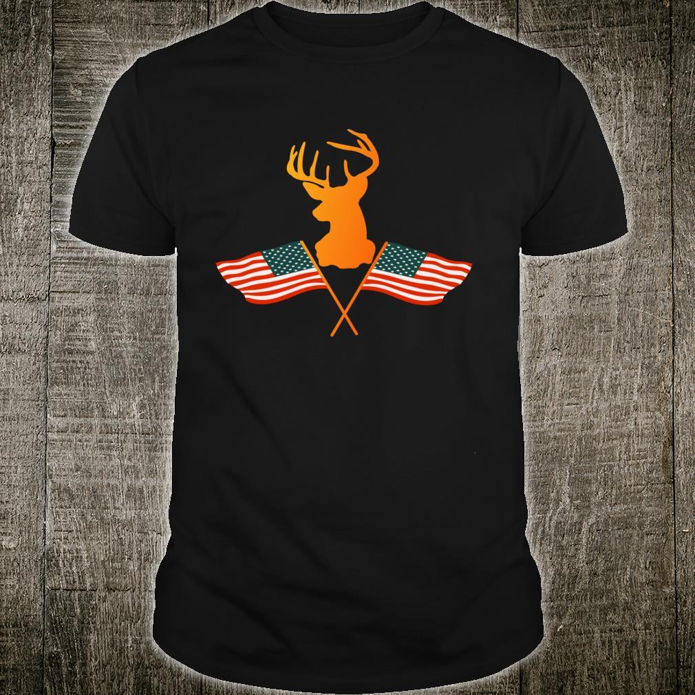 Vintage American Deer Hunter Patriotic Shirt