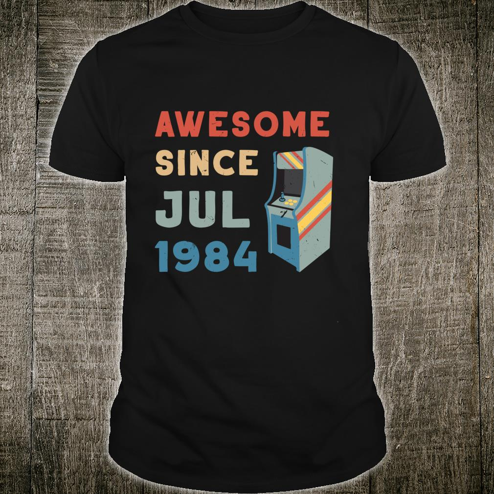 Vintage Awesome Since July 1984 Birthday Anniversary Shirt
