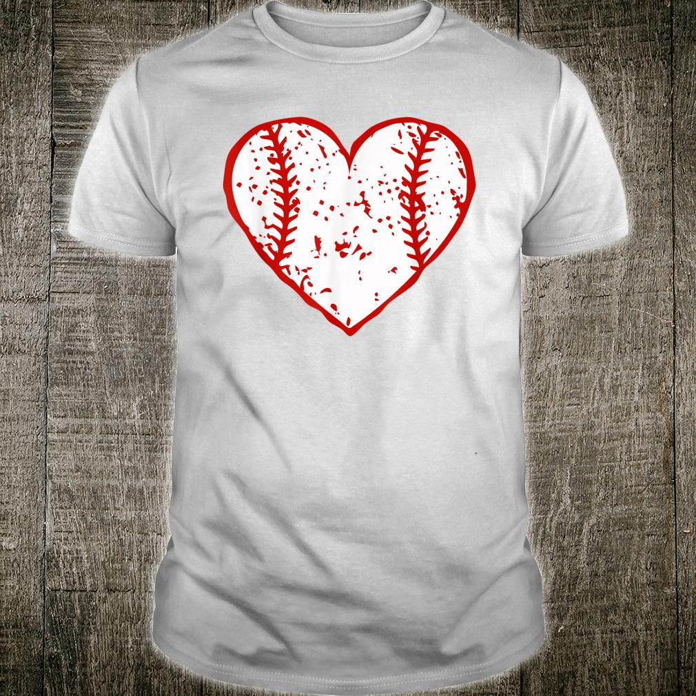 Vintage Baseball Heart Valentines Day Couples Matching Shirt