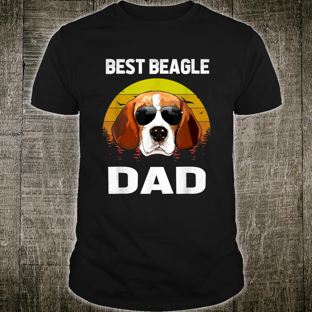 Vintage Best Beagle Dad Ever Family Matching Fathers Day Shirt