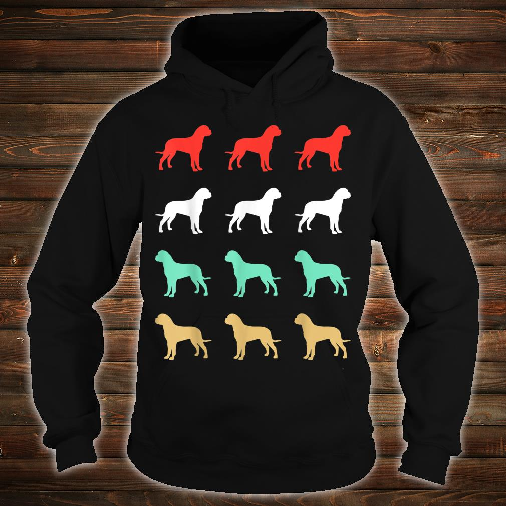 Vintage Bull Mastiff Dog Design Retro Shirt hoodie