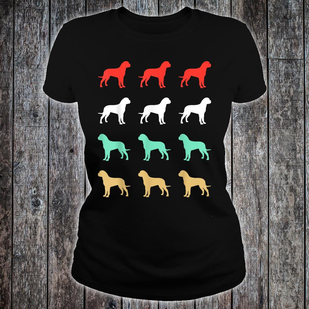 Vintage Bull Mastiff Dog Design Retro Shirt ladies tee