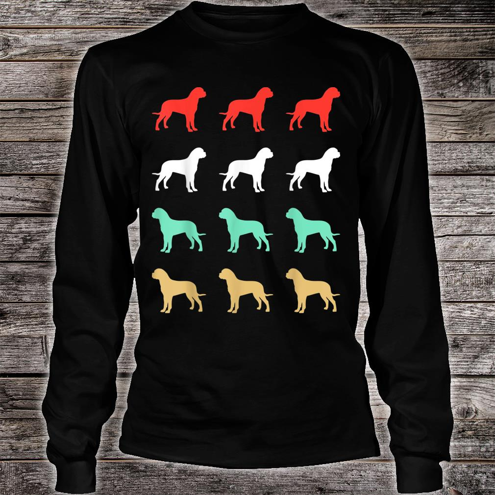 Vintage Bull Mastiff Dog Design Retro Shirt long sleeved