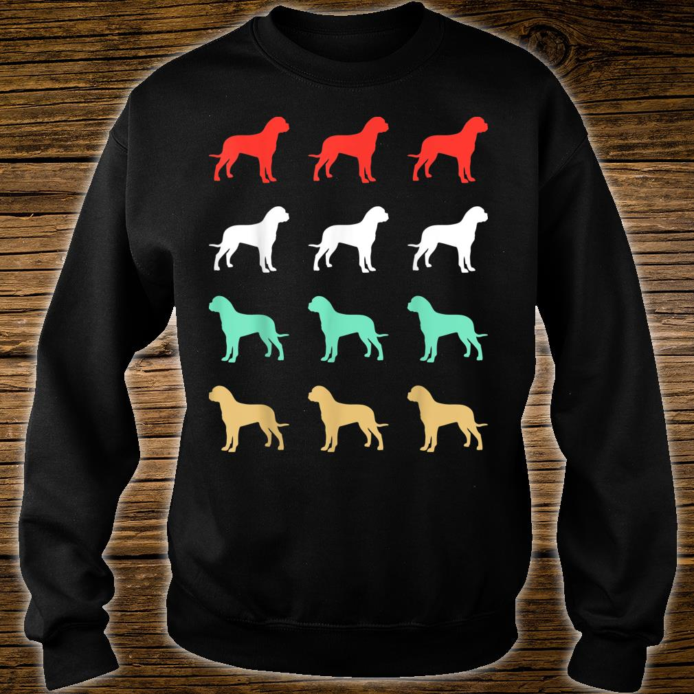 Vintage Bull Mastiff Dog Design Retro Shirt sweater