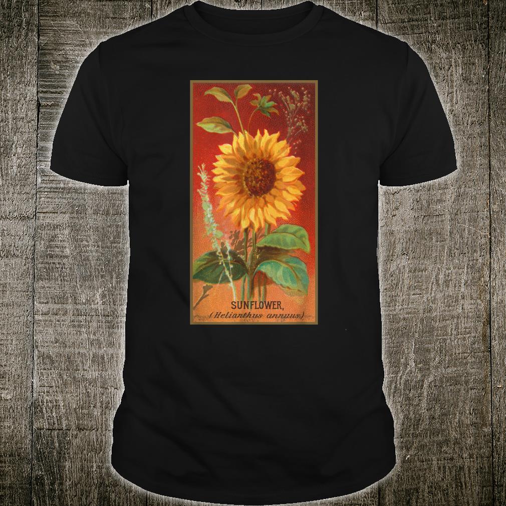 Vintage Cottagecore Aesthetic Sunflower Flower Illustration Shirt