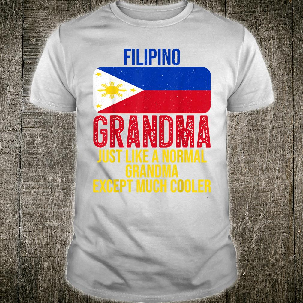 Vintage Filipino Grandma Philippines Flag for Mother's Day Shirt