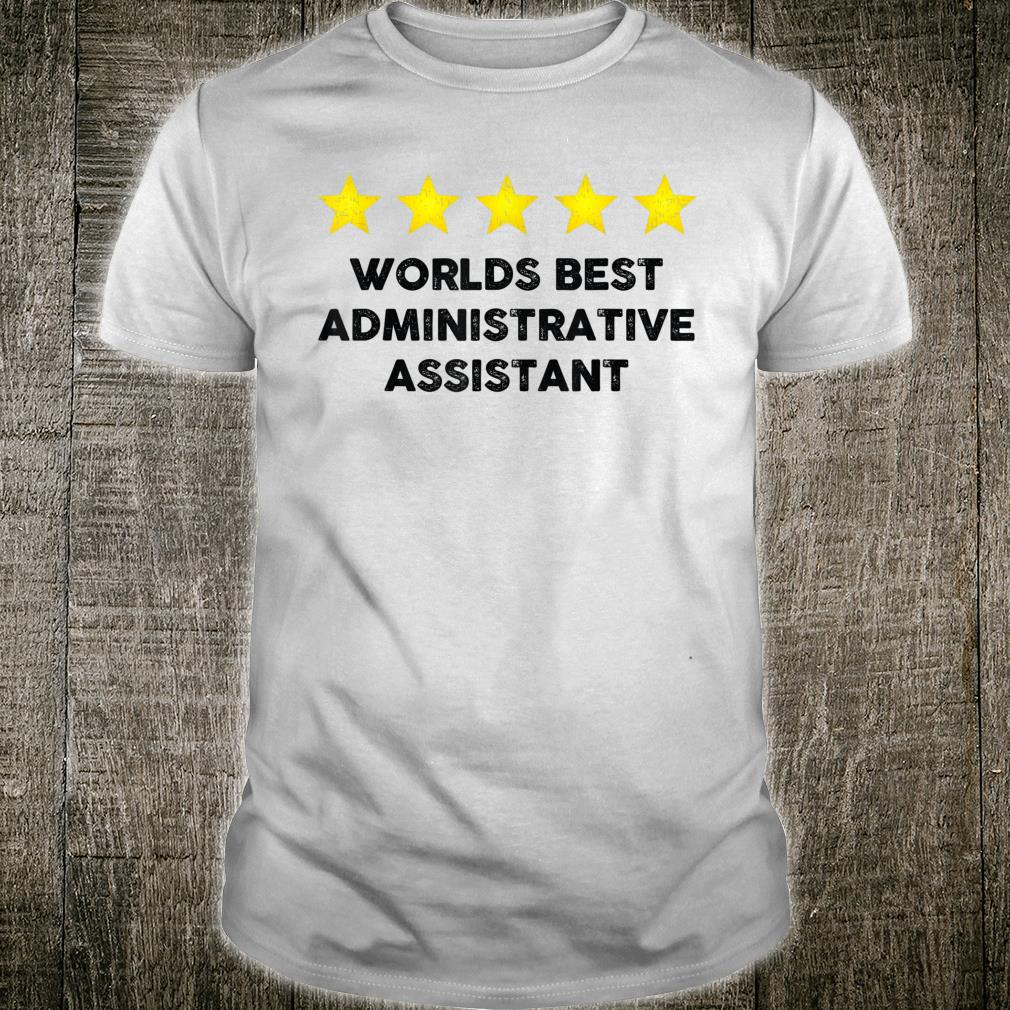 Vintage Five Star Worlds Best Administrative Rating Word Shirt