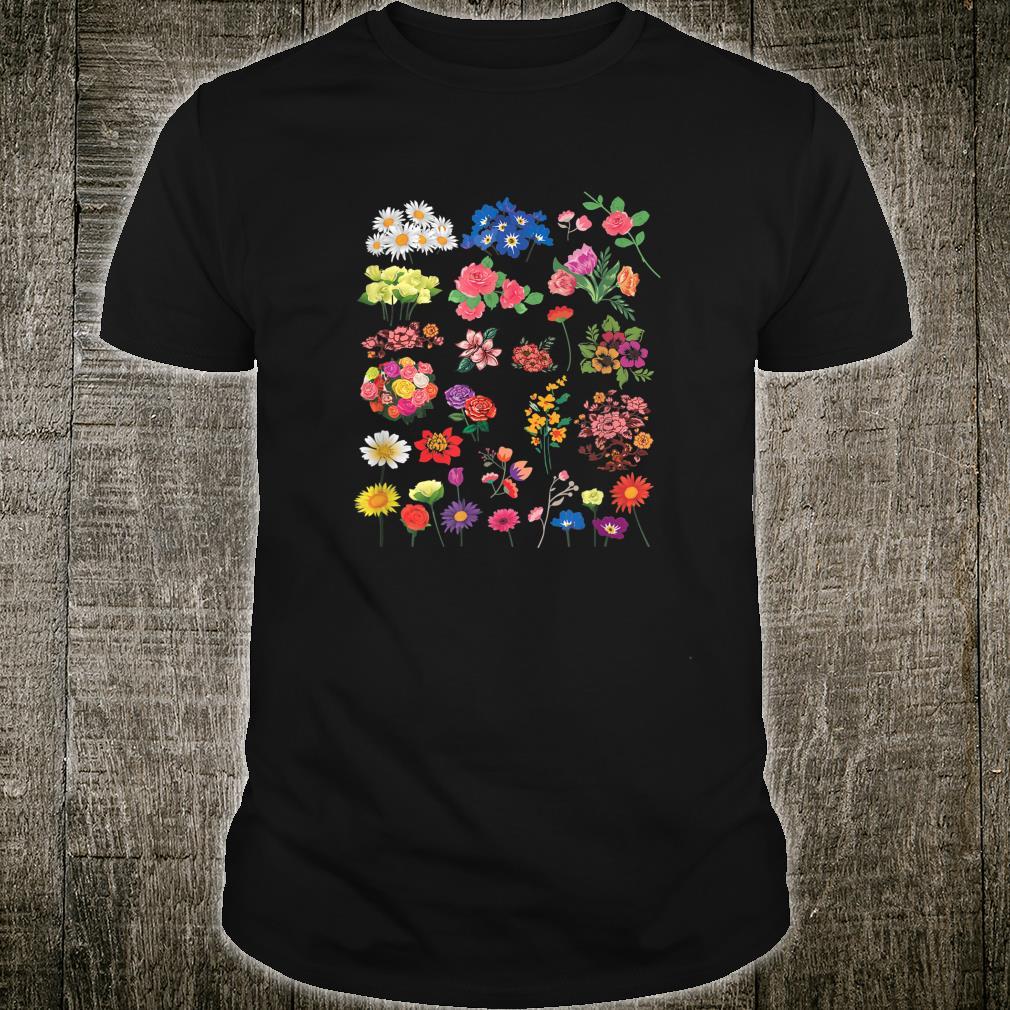 Vintage Flower Botanical Illustration Chart Plant Shirt