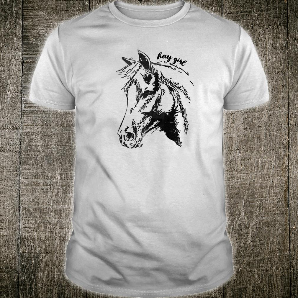 Vintage Hay Girl. Horse Show Jumping Western Riding Shirt