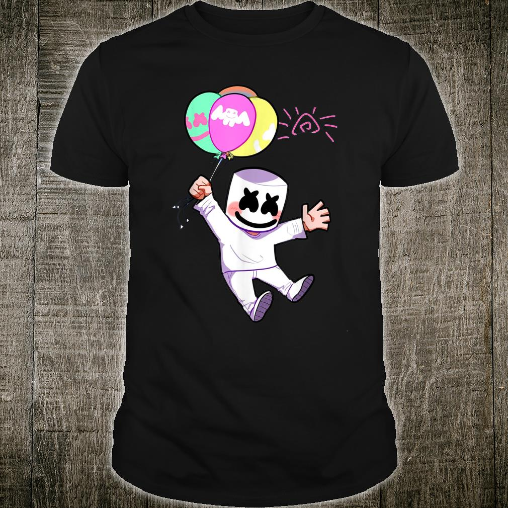 Vintage Marshmallow DJ Musically Retro Mello Christmas Music Shirt