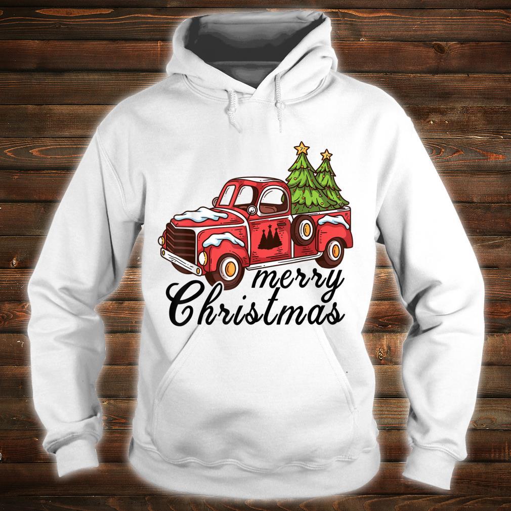 Vintage Merry Christmas Christmas Red Truck Xmas Tree Shirt hoodie