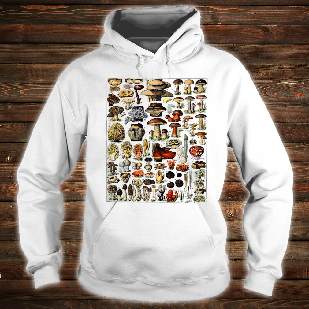 Vintage Mushrooms chart Illustration Shroom Morel Hunter Shirt hoodie