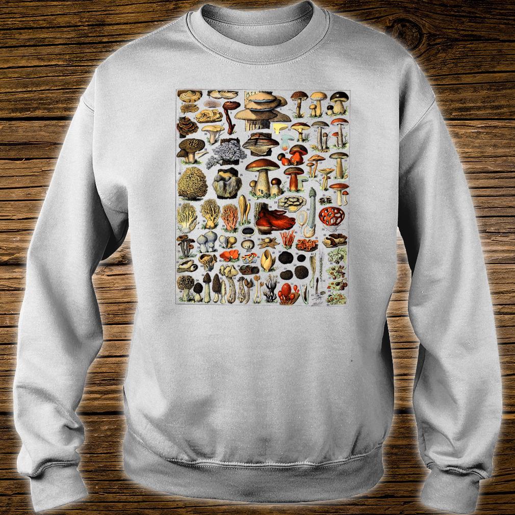 Vintage Mushrooms chart Illustration Shroom Morel Hunter Shirt sweater