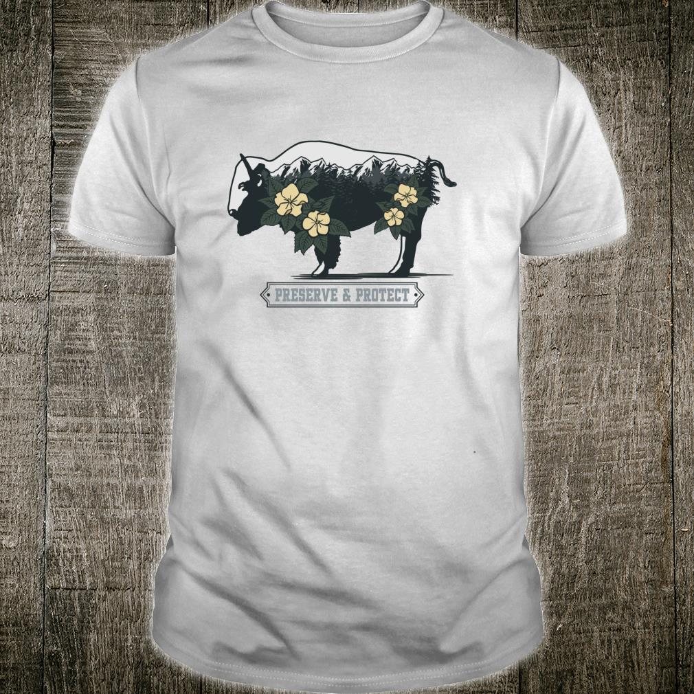 Vintage National Park Adventure Bison Preserve & Protect Shirt