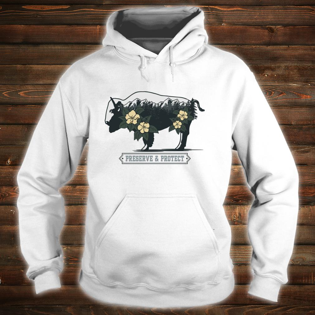 Vintage National Park Adventure Bison Preserve & Protect Shirt hoodie