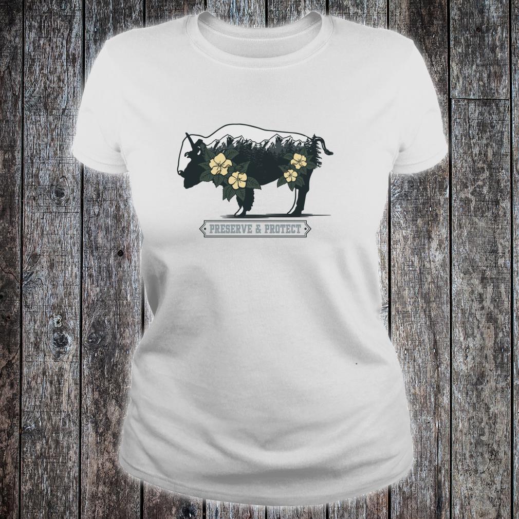 Vintage National Park Adventure Bison Preserve & Protect Shirt ladies tee