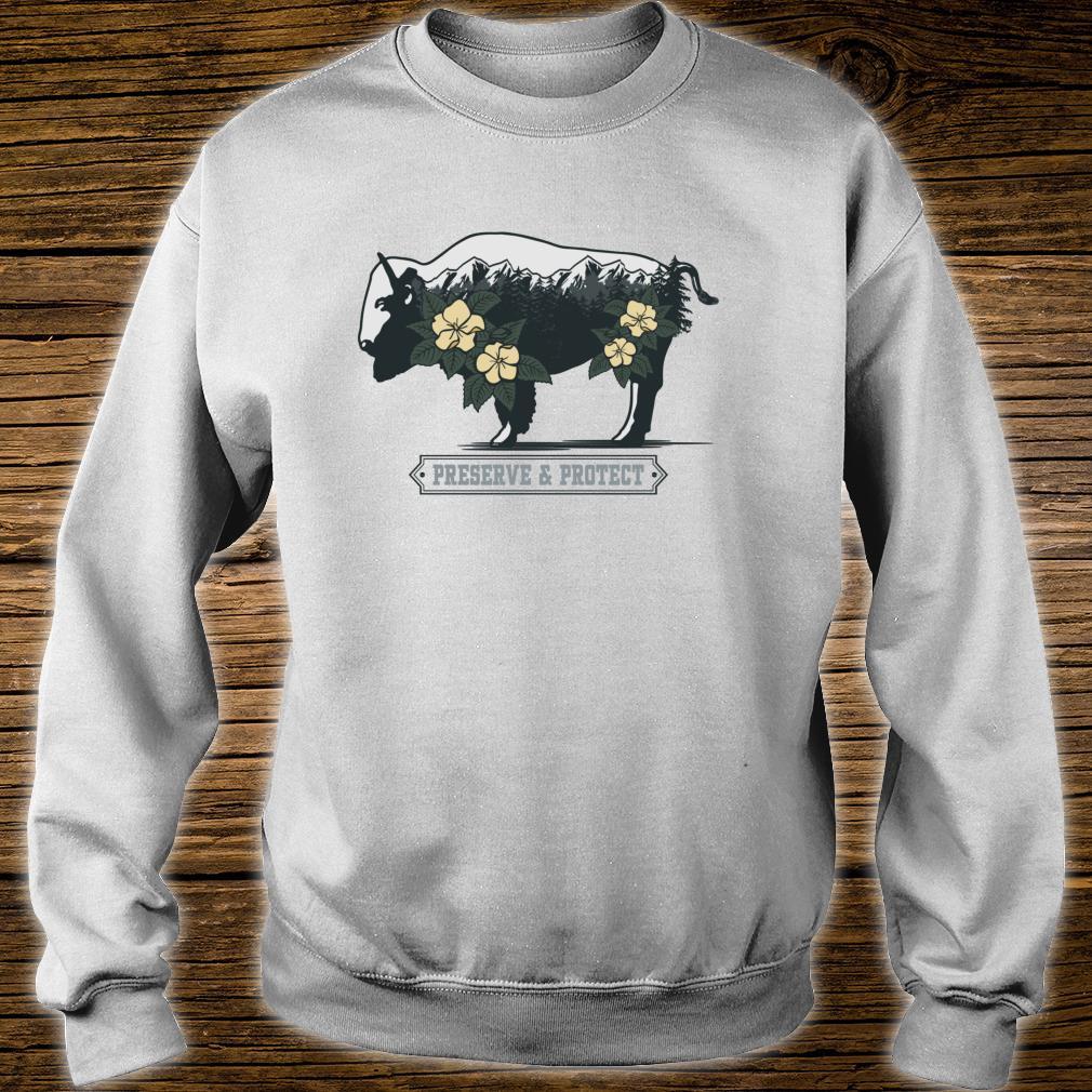 Vintage National Park Adventure Bison Preserve & Protect Shirt sweater