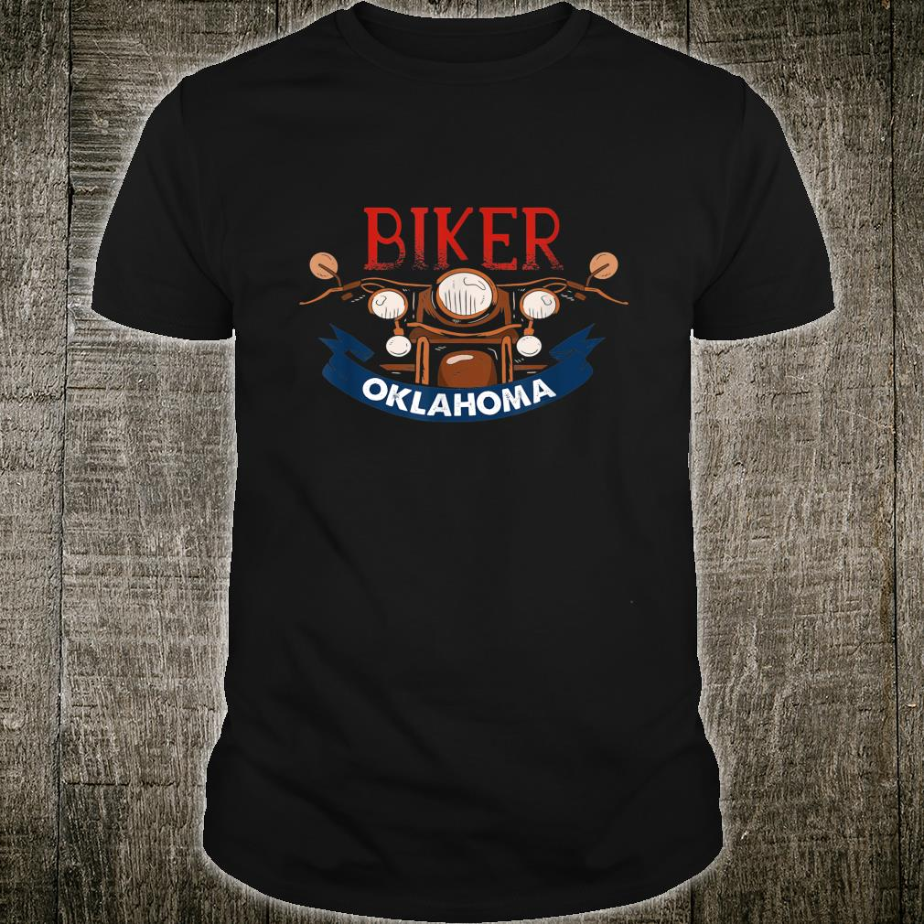 Vintage Oklahoma Biker Birthday Love Retro Adult Shirt