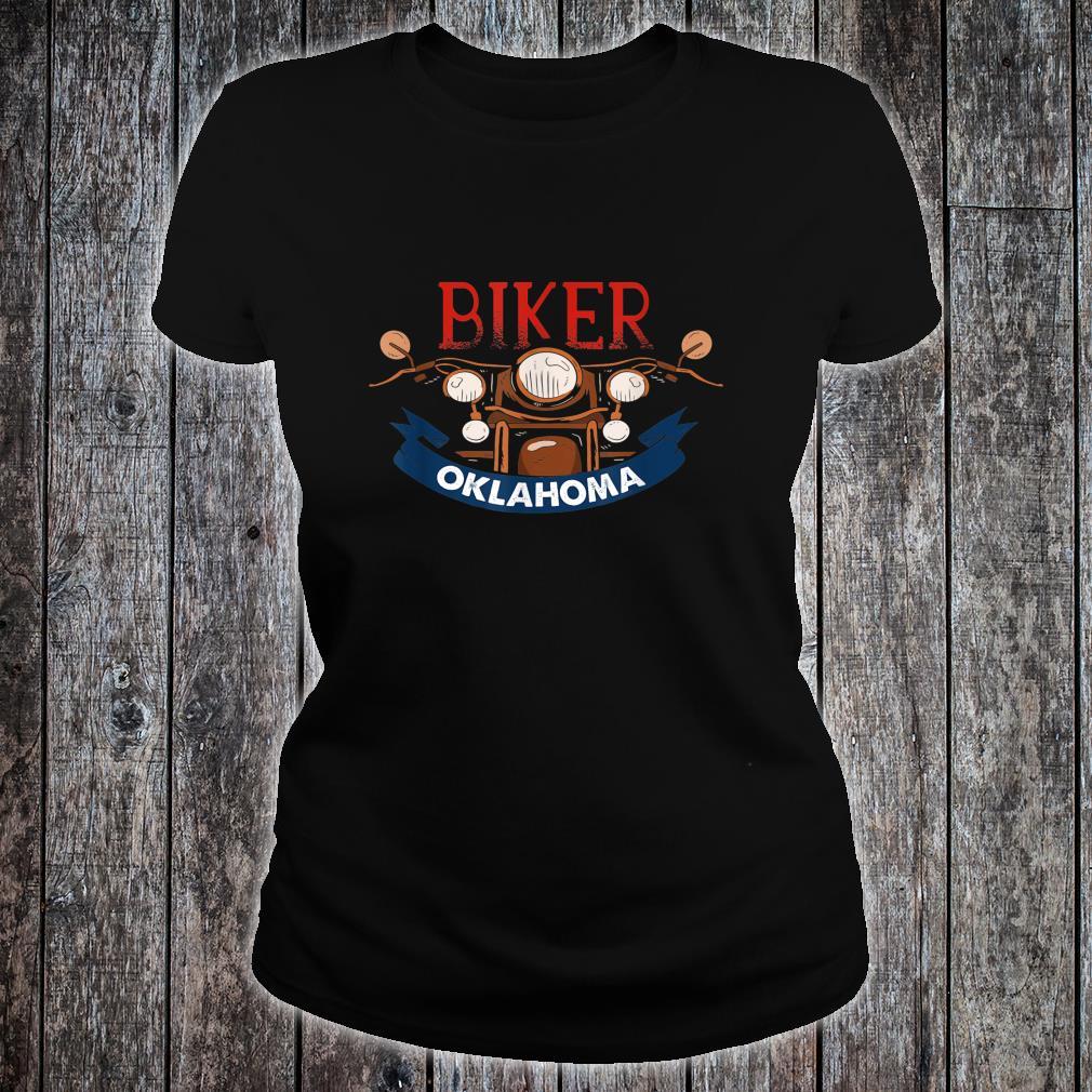 Vintage Oklahoma Biker Birthday Love Retro Adult Shirt ladies tee