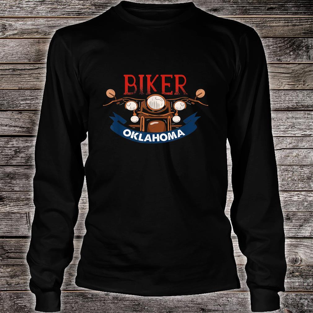 Vintage Oklahoma Biker Birthday Love Retro Adult Shirt long sleeved