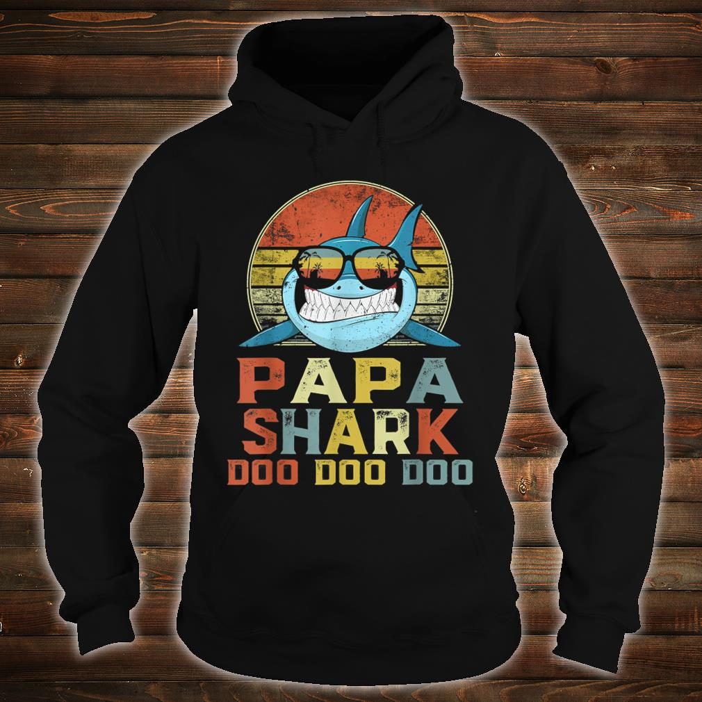 Vintage Papa Shark Doo Doo Doo Father's Day Birthday Shirt hoodie