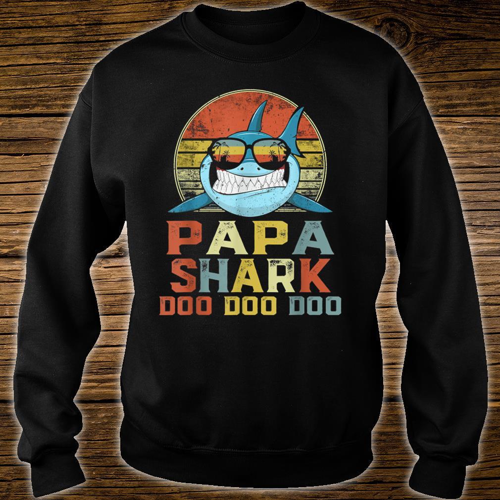 Vintage Papa Shark Doo Doo Doo Father's Day Birthday Shirt sweater